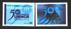 Kuwait. 2001. 1699-1700 from the series. 50 years of refugee protection. MNH.