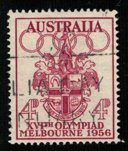 1956 Olympic Games - Melbourne, Australia, 4D, 1956, SC #288 (T-7475)