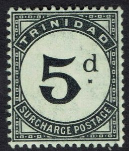 TRINIDAD 1905 POSTAGE DUE 5D WMK MULTI CROWN CA