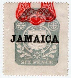 (I.B) Jamaica Revenue : Duty Stamp 3/- (die EE)