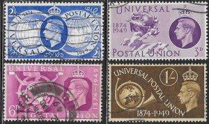 Great Britain 276-279 Used - King George VI - UPU