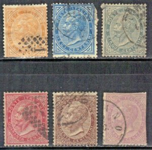ITALY VINTAGE USED STAMP LOT #1  1863-77