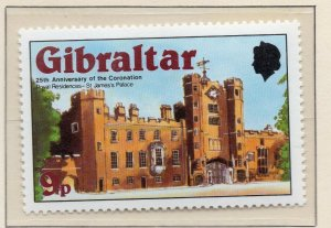 Gibraltar 1978 QEII Early Issue Fine Mint Unmounted 9p. NW-99272