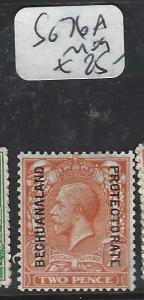 BECHUANALAND  (PP1904B)  KGV ON GB 2D  SG 76A   MOG