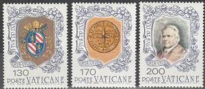Vatican City  #632-4 MNH F-VF(SU3528)