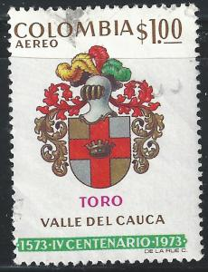 Colombia #C591 1p Arms of Toro