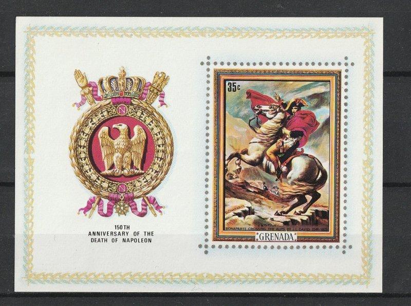 Grenada MNH S/S 415a 150th Anniversary Death Of Napoleon 1971