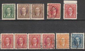 Canada Used George VI Mufti Issues Lot #190823-5