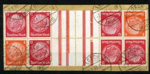 Tete-Beche (Kehrdruck) 1933 Watermark Honey Comb (Waben) Mi. KZ 19 , Combo