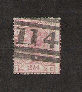 Great Britain Scott #66 Used 2 1/2p Victoria 2013 CV $130.00
