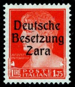 German Occupation of Zara (Italian Dalmatia) Mi #11 Ovpt Deutsche Besetzung Zara