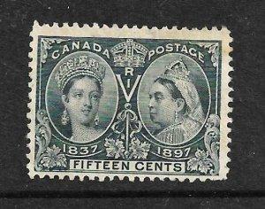 CANADA 1897  15c  JUBILEE  MNG  Sc 58