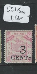 NORTH BORNEO (B0910)  3C/4C   ARMS,  LION SG18  MOG