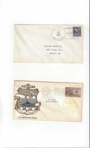 US Navy USS Nicholson DD 442, 2 Dif Covers, One with Photo