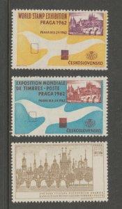 Czech Prague - Pristine- MNH GUM- 4-4-21 extra nice 1962(2)/1968 stamp show
