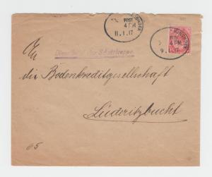 SOUTH WEST AFRICA 1917 DUAL CENSOR COVER, WINDHOEK-LUDERITZBUCHT, 1d (SEE BELOW)