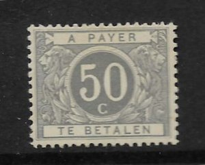 BELGIUM, J16, GUM DAMAGE, HINGED , POSTAGE DUE STAMPS