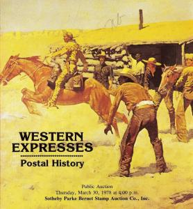 Sotheby's: Sale # 4101  -  Western Expresses - Postal His...