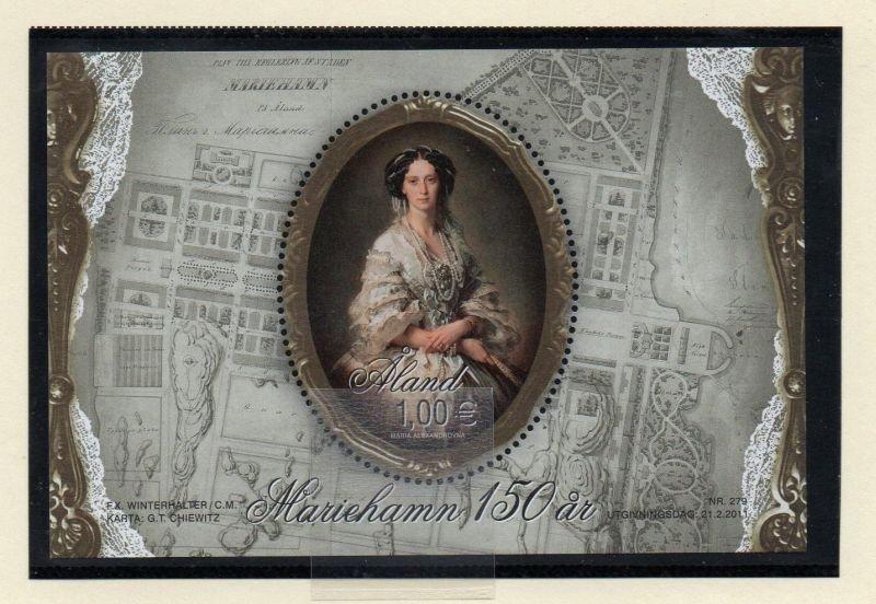 Aland Finland Sc  313 2011  Princess Marie stamp sheet mint NH