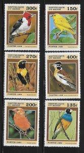 Benin 1999 Birds Sc 1120-1125 MNH A98