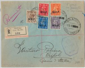 59456 - MEF British Middle East Forces - POSTAL HISTORY: COVER from TRIPOLI 1943