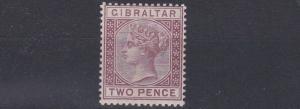 GIBRALTAR  1886 - 87  S G 10   2D  BROWN  PURPLE  MH