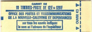 New Caledonia #402a  MNH Complete Booklet With 2 Panes  CV $400.00 (X6985)