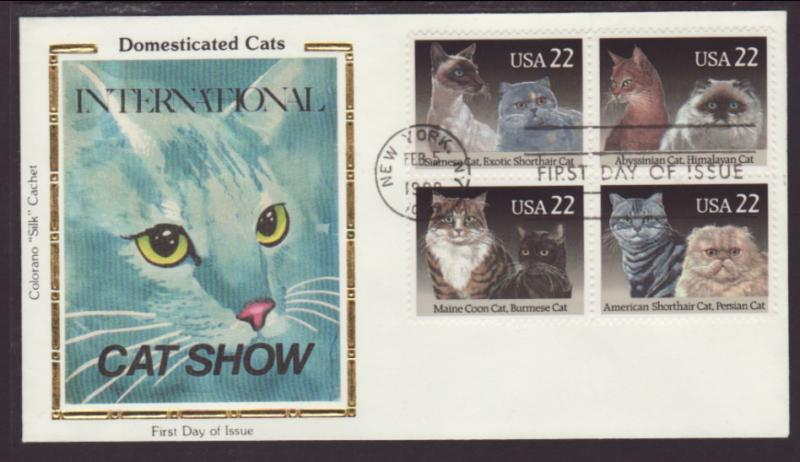 US 2375a Cats 1988 Colorano U/A FDC