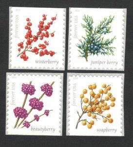 5415-18 Winter Berries Set Of 4 Singles Mint/ng FREE SHIPPING