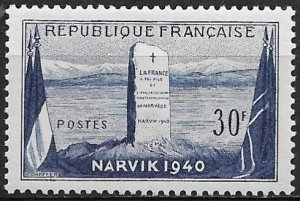 1952 France 677 Battle of Narvik MNH