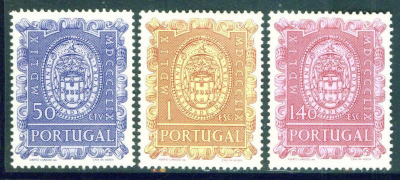 Portugal Scott 857-859 MH* Evora University set 1960