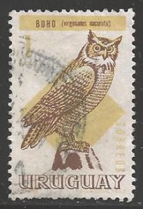 Uruguay 1968 1p Owl, Scott #751, used
