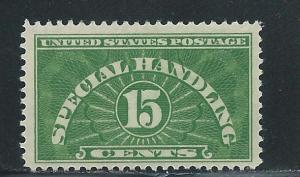 United States QE2 15c Special Handling single MLH (z1)