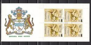 Guyana, Scott cat. 1412, Orchid sheet of 4, Queen o/print. First day cover. ^