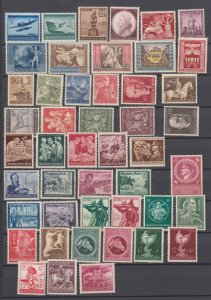 J29779, all different nazi germany mh lot