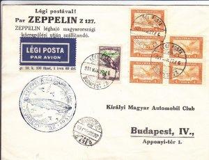 1931, Zeppelin: LZ127, Budapest, Hungary (24381)