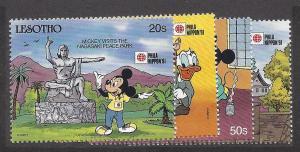 Lesotho, 807,809-10,814, Disney Singles,**MNH**