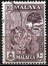 Malaya Malacca; 1960: Sc. # 61; O/Used Single Stamp