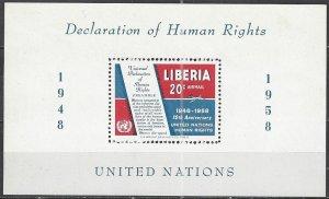 Liberia  C119  MNH  Human Rights 10th Anniversary