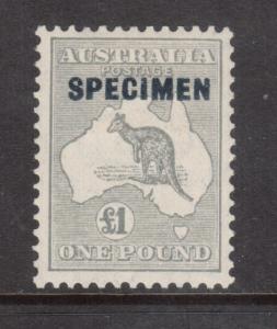 Australia #128sp Very Fine Mint With Specimen Overprint