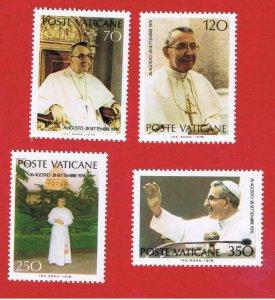 Vatican City #641-644  MNH OG  John Paul l   Free S/H