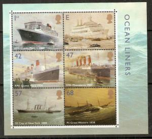 GB SGMS2454 2004 OCEAN LINERS M/S MNH