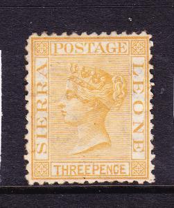 SIERRA LEONE  1872-73  3d   QV  MLH   SG 8