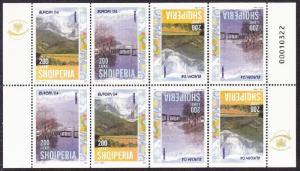 Albania Europa CEPT Holidays Booklet pane SG#2992-2993 MI#2966-2967D CV£40+