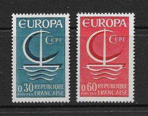 FRANCE - EUROPA 1966 - SCOTT 1163 TO 1164 - MNH