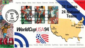 #2837 World Cup Soccer Collins FDC