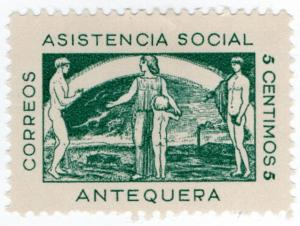 (I.B) Spain Civil War Cinderella : War Charity 5c (Antequera)