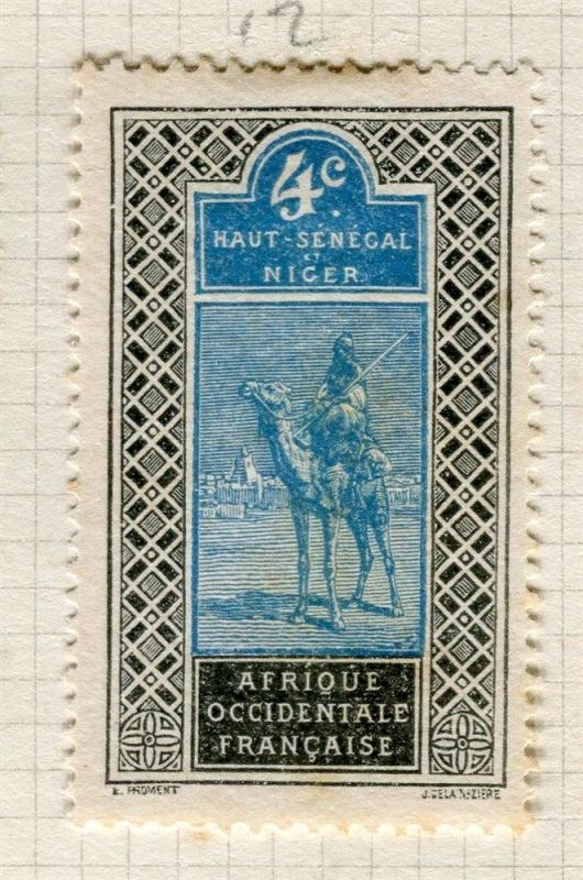 FRENCH COLONIES;  HAUT SENEGAL  1900s Pictorial issue Mint hinged 4c. value
