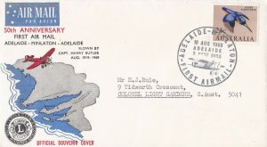 AFC217) AUSTRALIA 1969 1ST FLT.CVR.- ADELAIDE-MINLATON-AAMC 1645