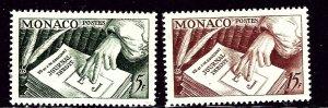 Monaco 301-02 MH 1953 set    (ap2890)